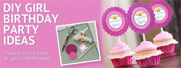 DIY Girl Birthday Supplies Do It Yourself Girl Birthday Supplies