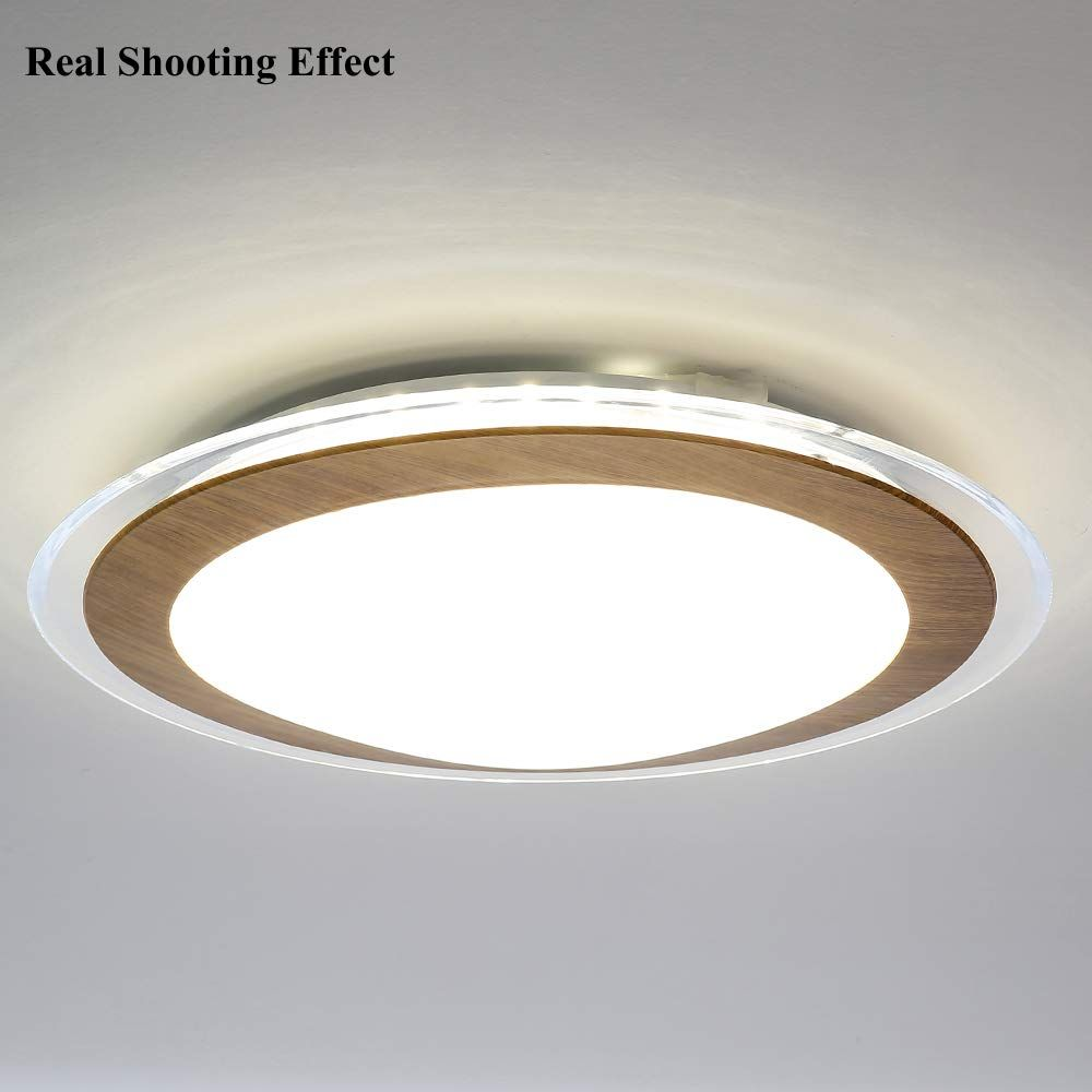 Auffel Ceiling Light Minimalist Dimmable Led Light Source Flush Mount Light Fixtures Glass K9 Cr Light Fixtures Flush Mount Ceiling Lights Dimmable Led Lights