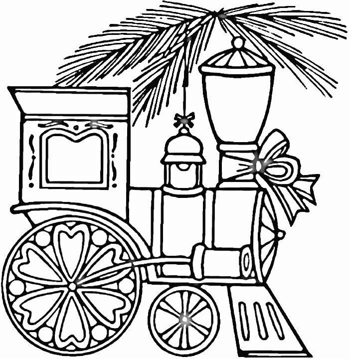 Coloring page Train coloring pages, Printable christmas