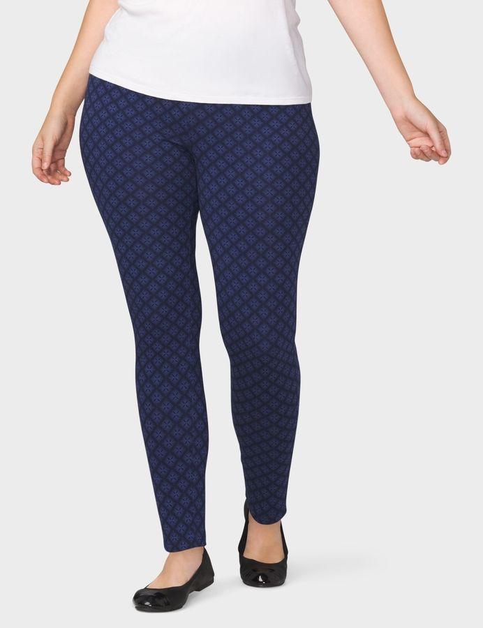 5f6d904f458190 dressbarn WESTPORT Plus Size Geometric Print Leggings   Products ...