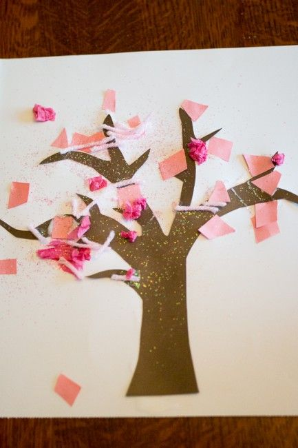 Sparkly Spring Tree Craft For Toddlers To Make Bloggers Fun