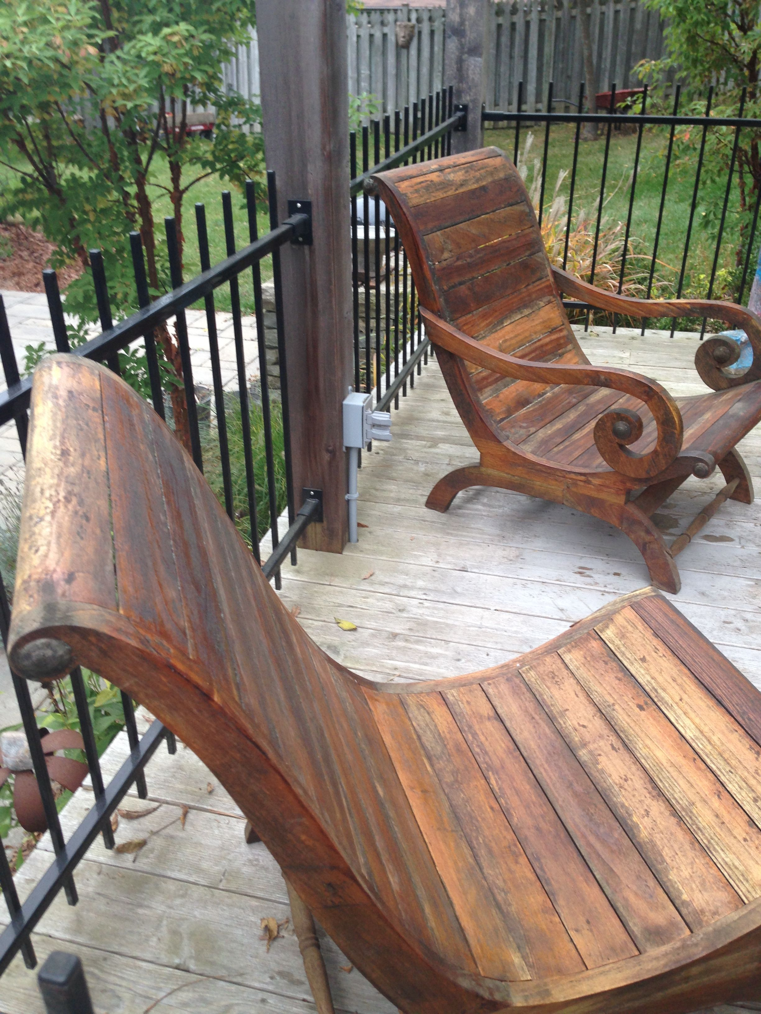 Teak Gentleman And Ladies Chairs Indonesian Patio