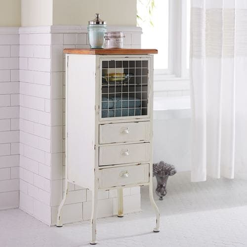 - Antique White Bathroom Cabinet Bathroom Cabinets, Bath And Interiors
