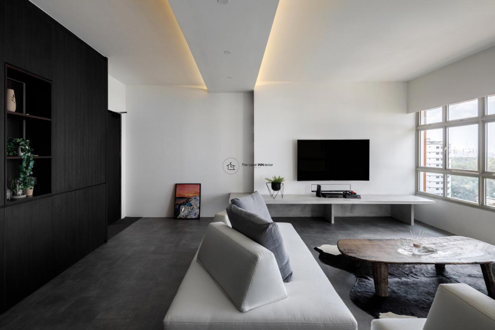 5 Zen Style Hdb Flats To Soothe Your Soul In 2020 Minimalist Home Home Living Room Tv