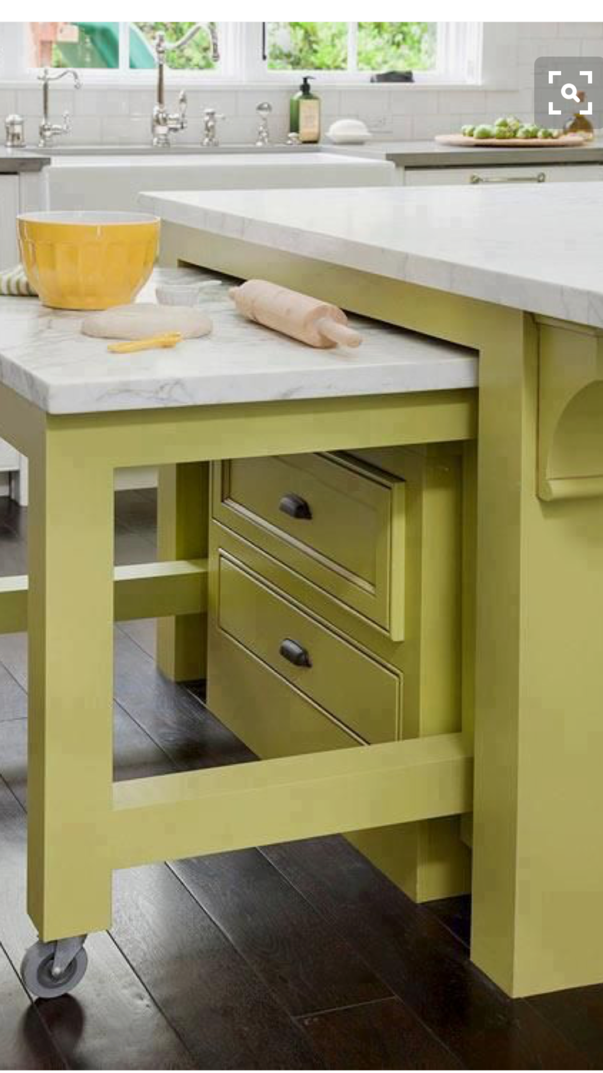 Pull Out Drawers And Table For 2 Extra Work Surfaces.