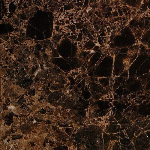 Dark Tile Master Bathroom: Emperador Dark Polished 18x18
