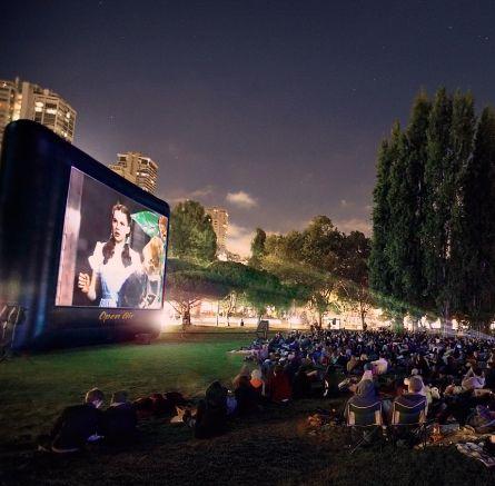 Cinebox Elite A/V System 40' | Outdoor movie screen ...