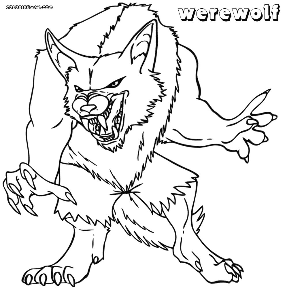 Werewolf Coloring Pages Gallery