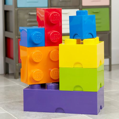 Vibrant Giant LEGO Storage Blocks Bundle - Blue, Green, Orange ...
