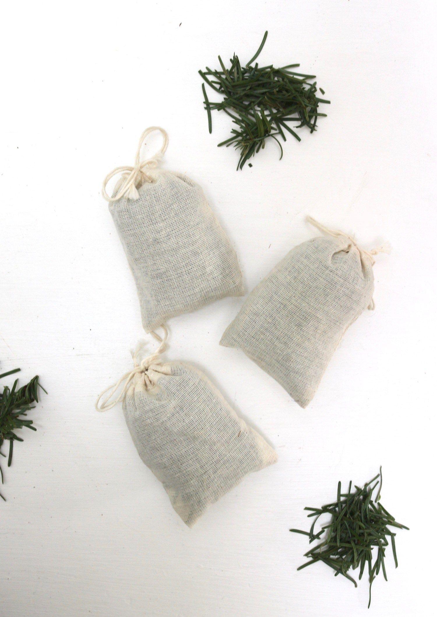 Diy pine needle sachets recycle your tree zero waste living