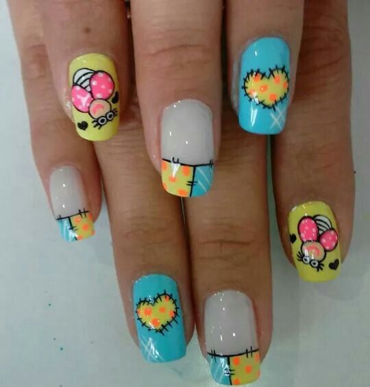 Uñas Nails Colores Vivos Nails Nails Nail Designs Y Cute Nail