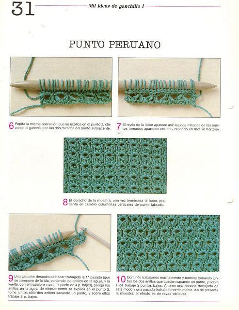 patrones asgaya: PUNTO PERUANO CROCHET | Ganchillo | Pinterest ...