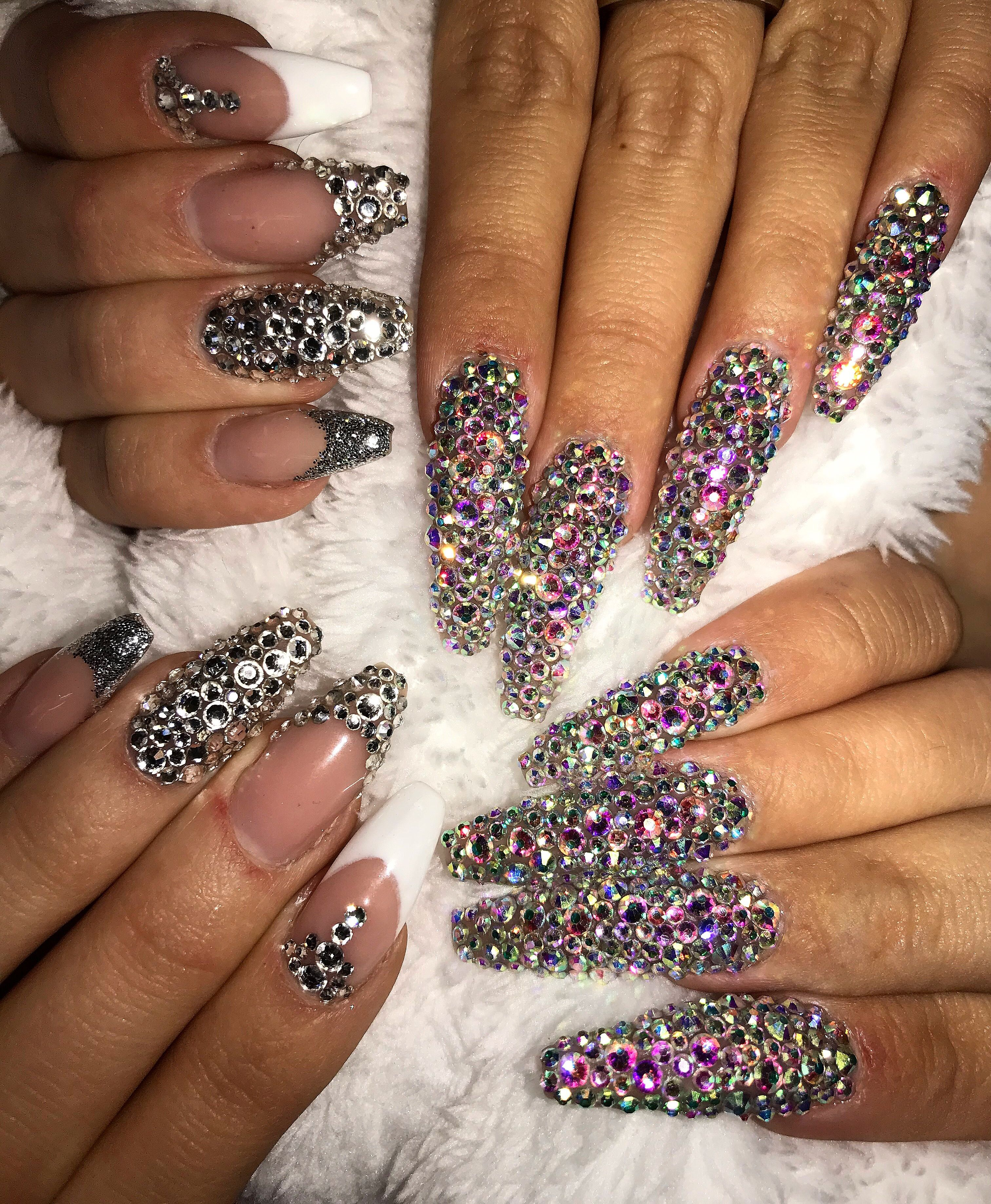 diamond nails | nails | Pinterest | Diamond nails