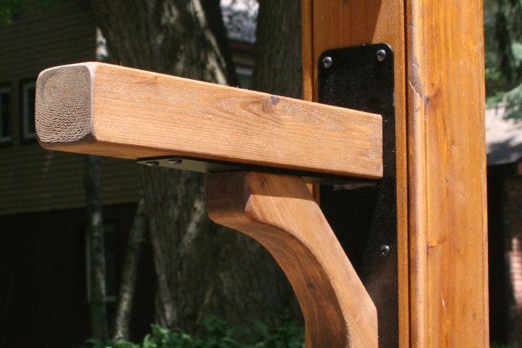 Metal And Wood Mailbox Bracket Mailbox Installation Mailbox