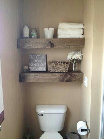 Diyで大満足 一枚板風棚板 海外の狭いトイレ 洗面所インテリア