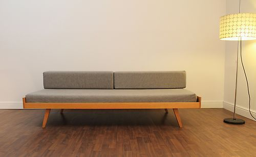60er 70er daybed bettsofa danish mid century modern for Cord sofa 70er