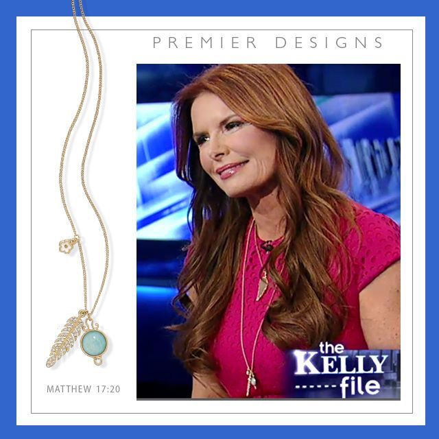 Loved seeing this photo of Roma Downey on Fox News last night wearing @premierdesignsinc Matthew 17:20 necklace!