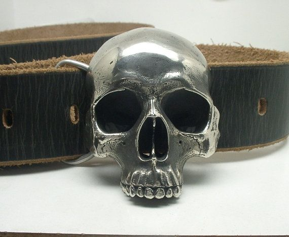 de69c0980 Human Skull Belt Buckle White Bronze. WOW! I am digging your work! This  skull and also your Raven are badass, Top Notch!