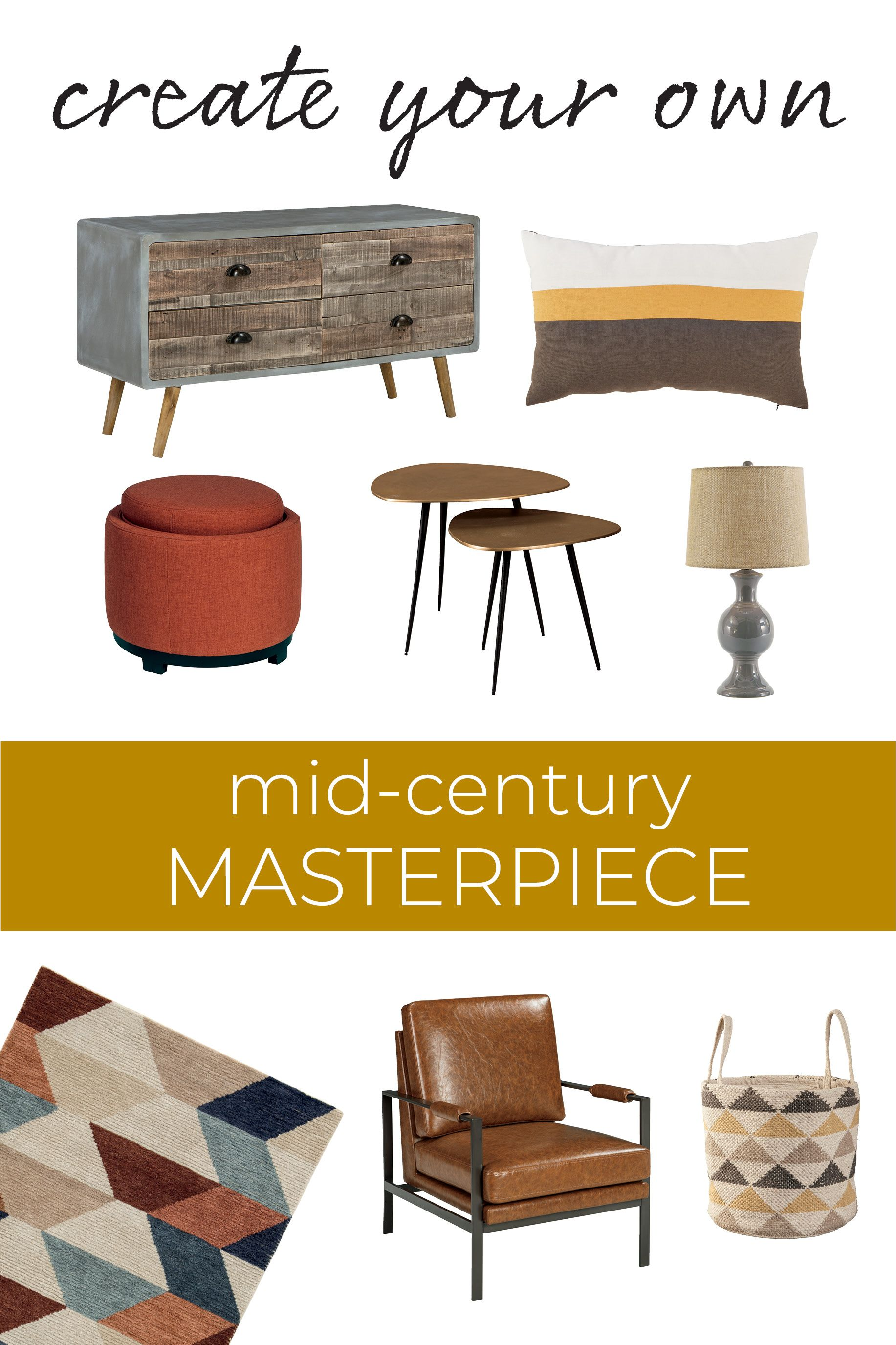 Mid Century Accents And Accessories From Ashley Furniture Ashleyfurniture Mid Century Accents Ashley Furniture Ashley Furniture Industries