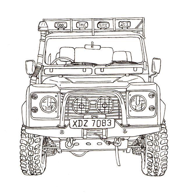Land Rover Defender 90 Desenhos De Carros Land Rover Carro De