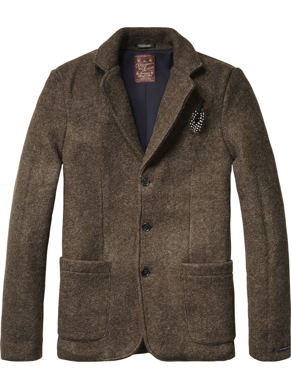 Blazer classic knit   midseason Jackets   Scotch & Soda Clothing Man