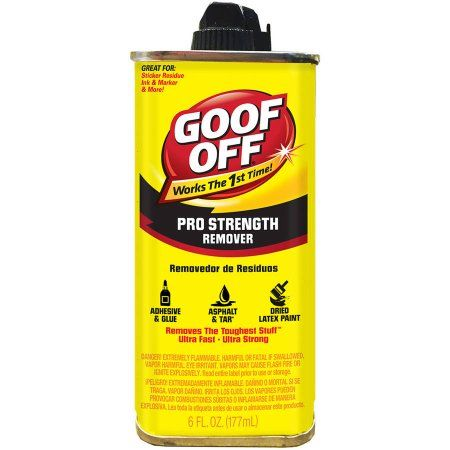 Goof Off Pro Strength Remover, 6 oz, Clear
