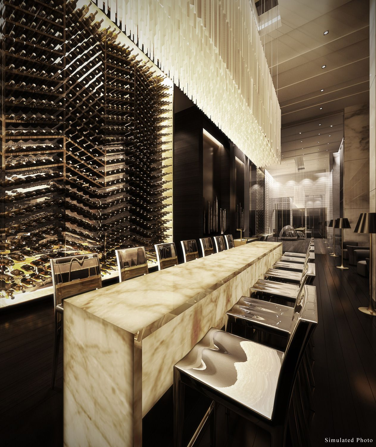 64 Best Bar Back Design Images On Pinterest: Ivy Ampio Restaurant Interior. This Would Be Really Cool