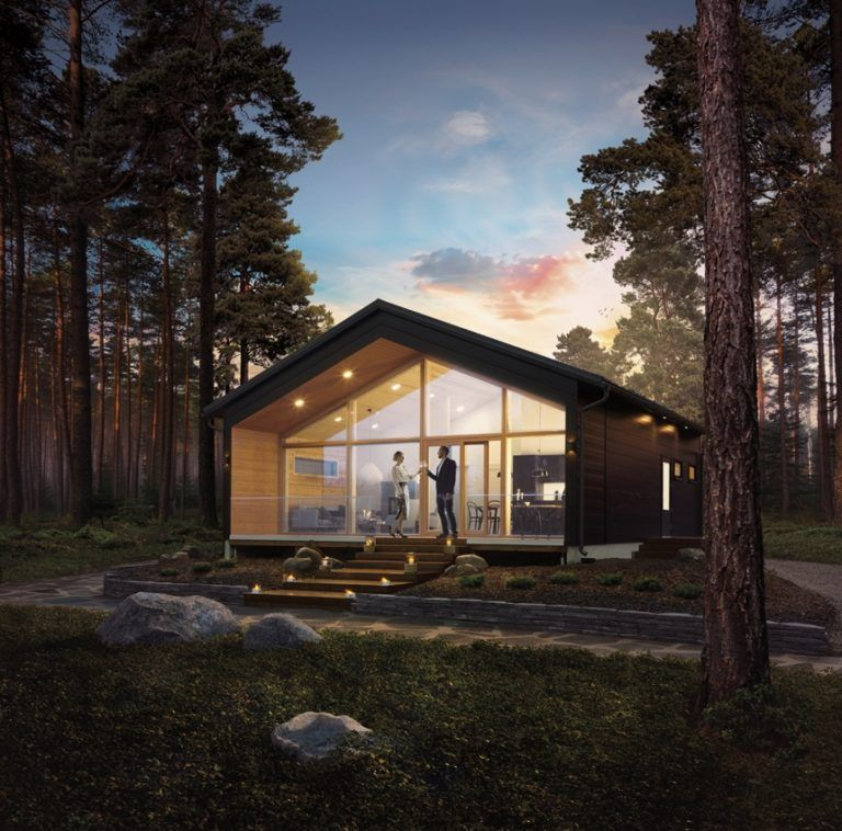 Honka Vista Is A Stunning Contemporary Log Home Design That Combines Warm Wooden Surfaces And Urban Details Log Homes Modern Cabin Modern House Design