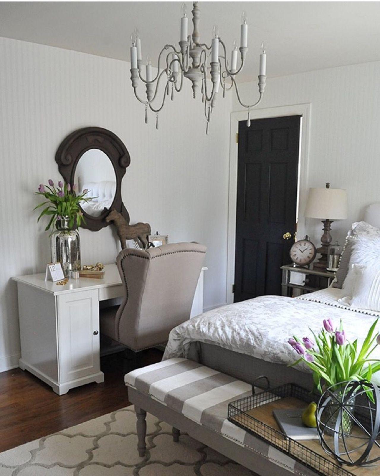 Master bedroom nook  Cottage Life u Via dearlillie  Simple Bedroom Country Living