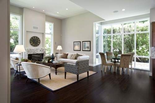 Attractive Dark Wood Flooring Design Ideas In Living Room