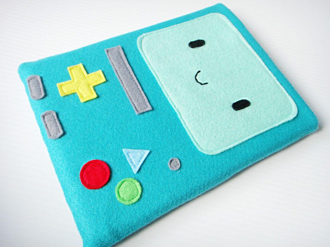 Felt iPad Sleeve / Case BMO Adventure Time. 35.00, via