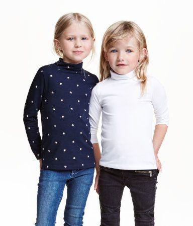 2er-Pack Rollkragenshirts | Dunkelblau/Herzen | Kinder | H&M DE