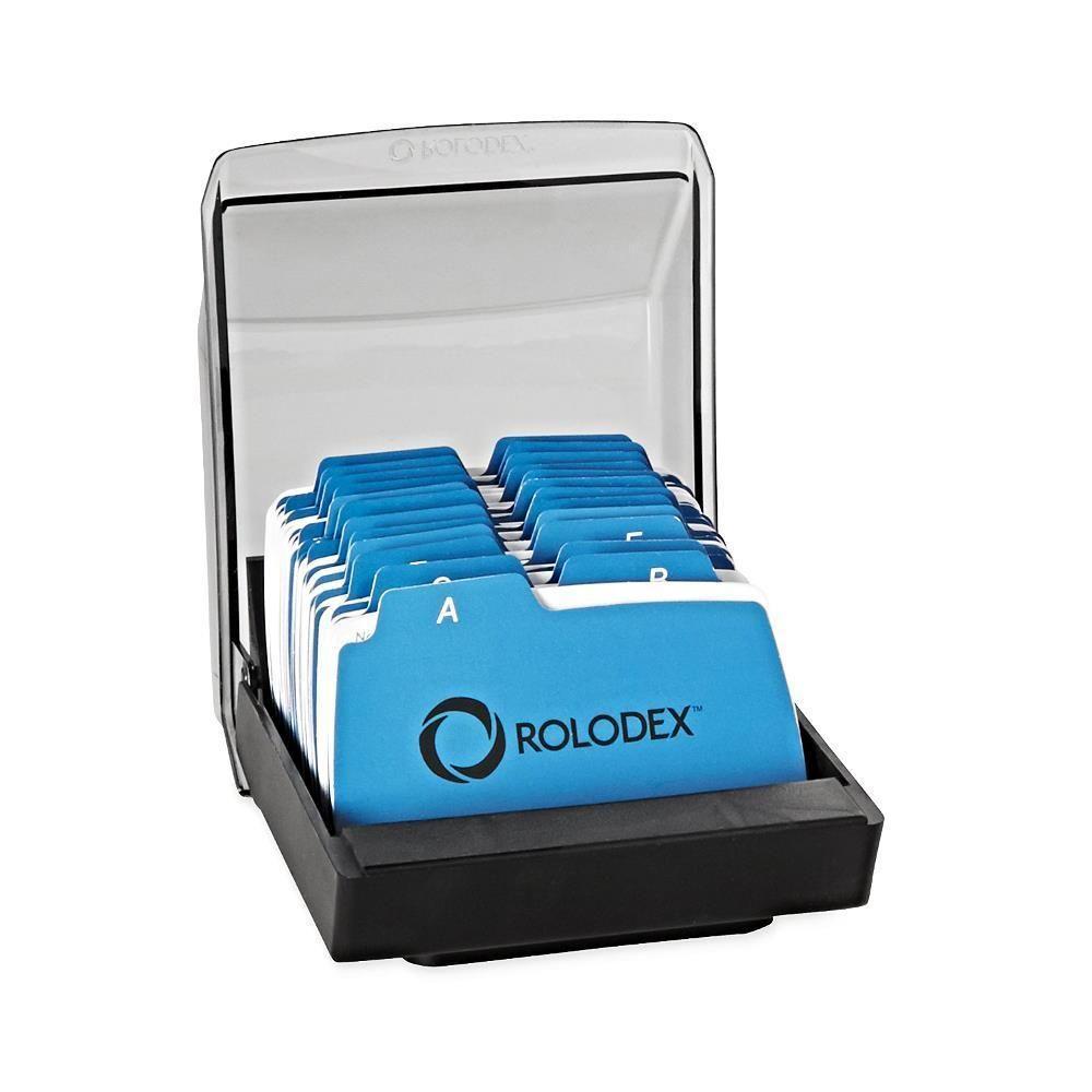 Business card case holder file address divider tray