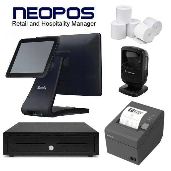 NeoPOS Retail POS System with the SAM4S Touch POS Terminal & Zebra