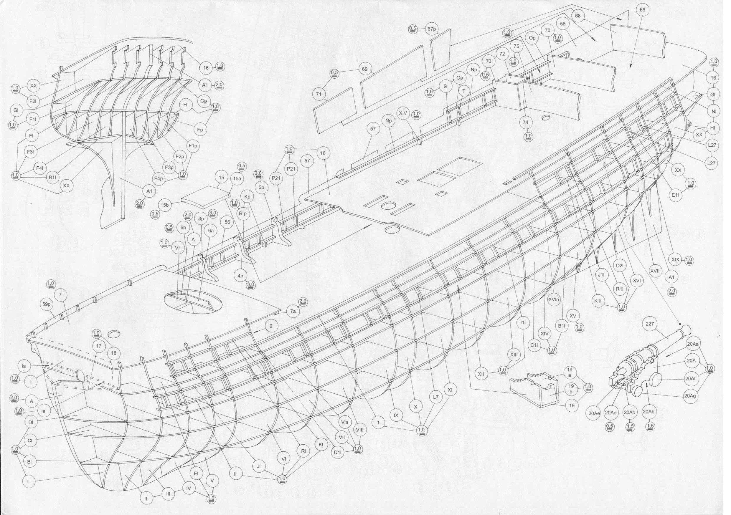 Модели парусных кораблей своими руками чертежи