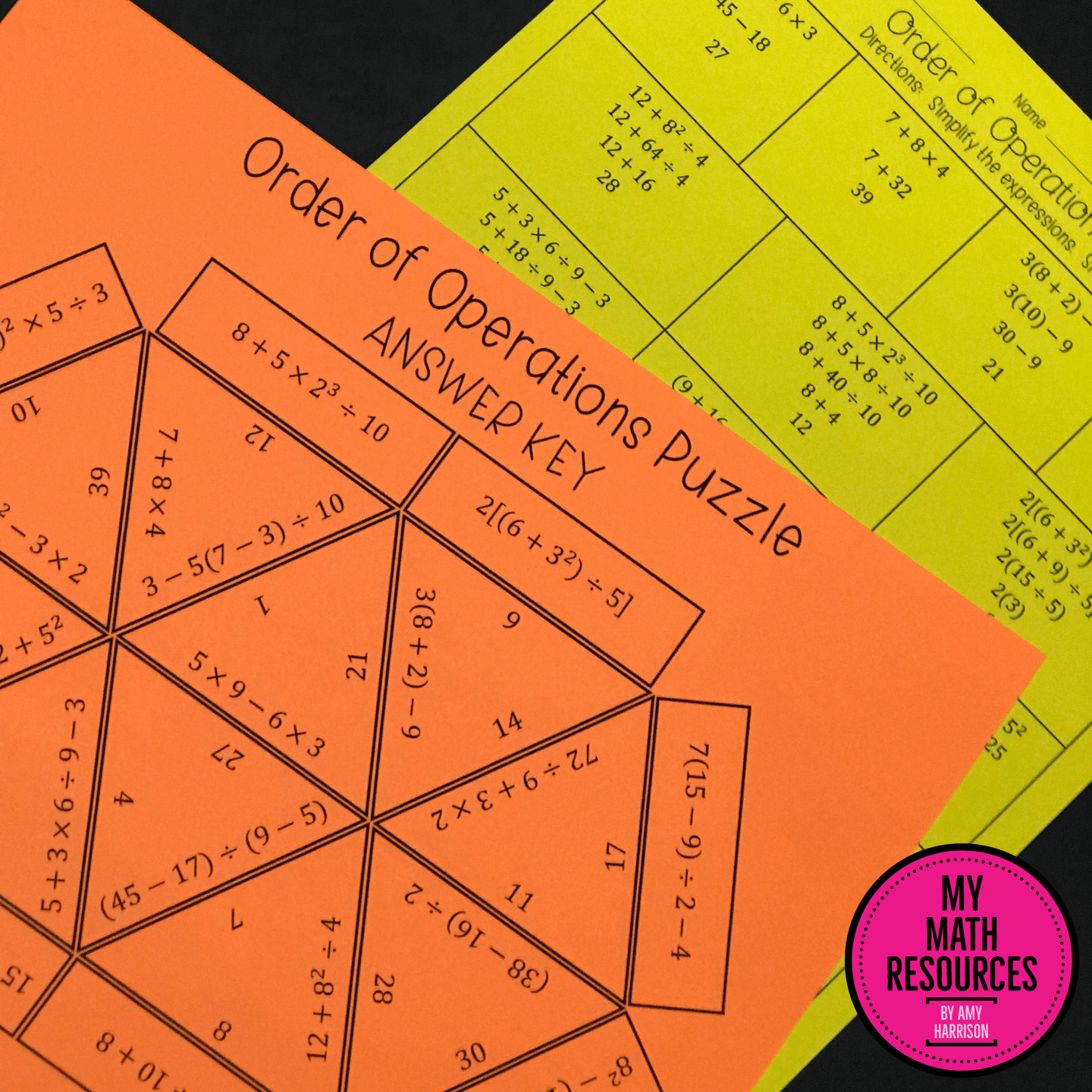 6th Grade Order Of Operations Puzzle Ccss 6 A 1