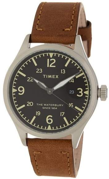 e4db0bb3a TIMEX   Men's Waterbury Leather Strap Watch, 40mm in 2019   Products ...