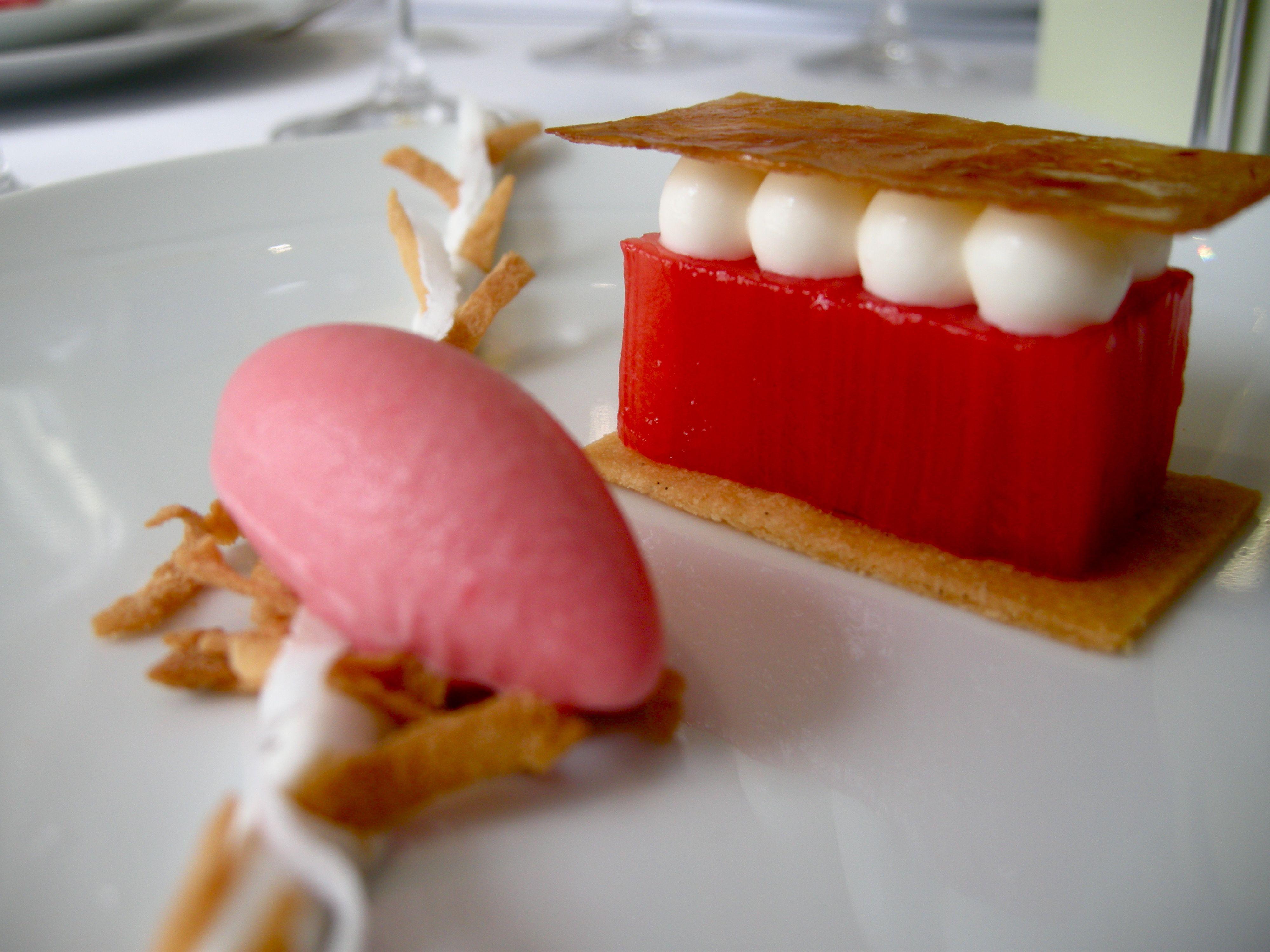 Michelin 3 Felixhirsch S Tour De Table Rhubarb Desserts Desserts Food