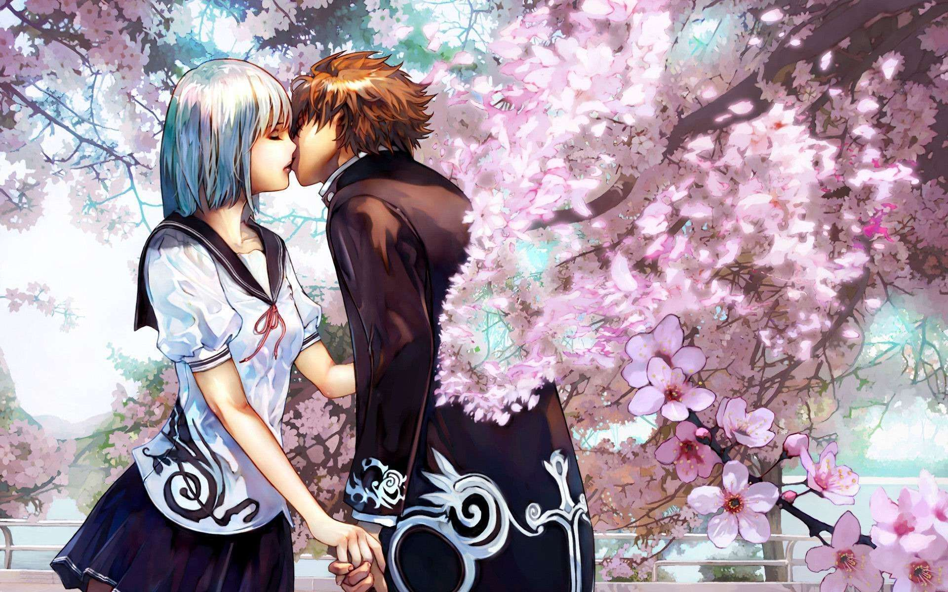 Anime People In Love Wallpaper Desktop (With images