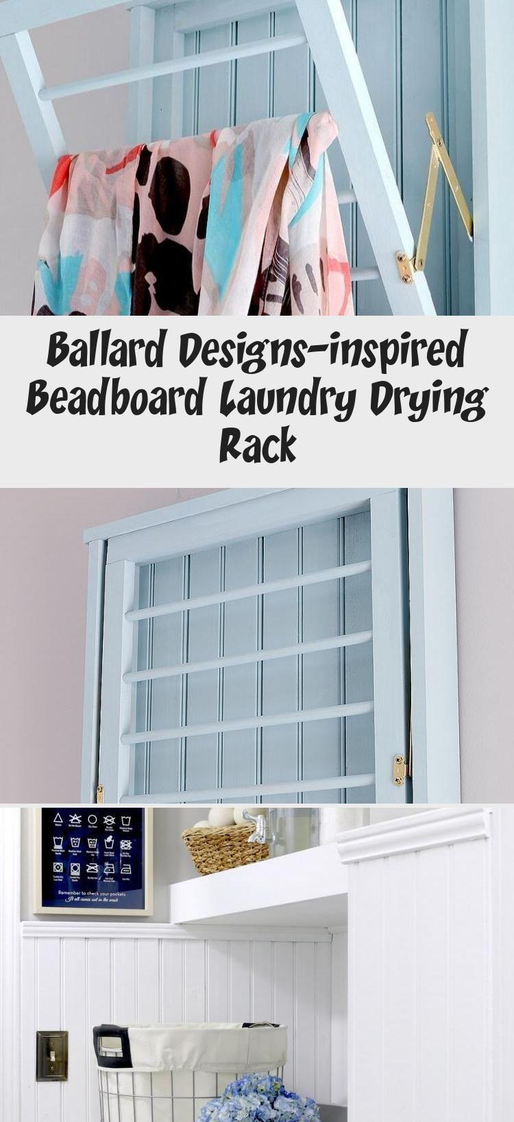 Ballard Designs Inspired Beadboard Laundry Drying Rack In 2020