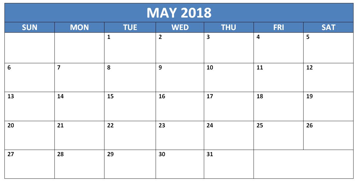 may 2018 word calendar template 2018 calendar templates