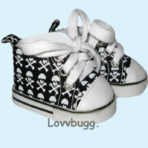 Skull High Tops Tennis Sneakers Doll Shoes for 18