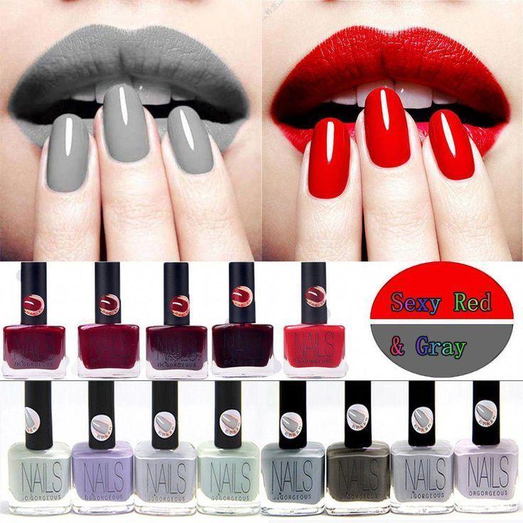 2.08AUD Rot & Grau Nagel Gel Lack Qualität Led UV Gel Nagellack Mode #eb#208aud #gel #grau #lack #led #mode #nägel #nagellack #qualität #rot