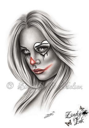 a708c61b5e65a Sad Clown Chicano Tattoo Design by Zindy S. D. Nielsen, ZindyInk ...