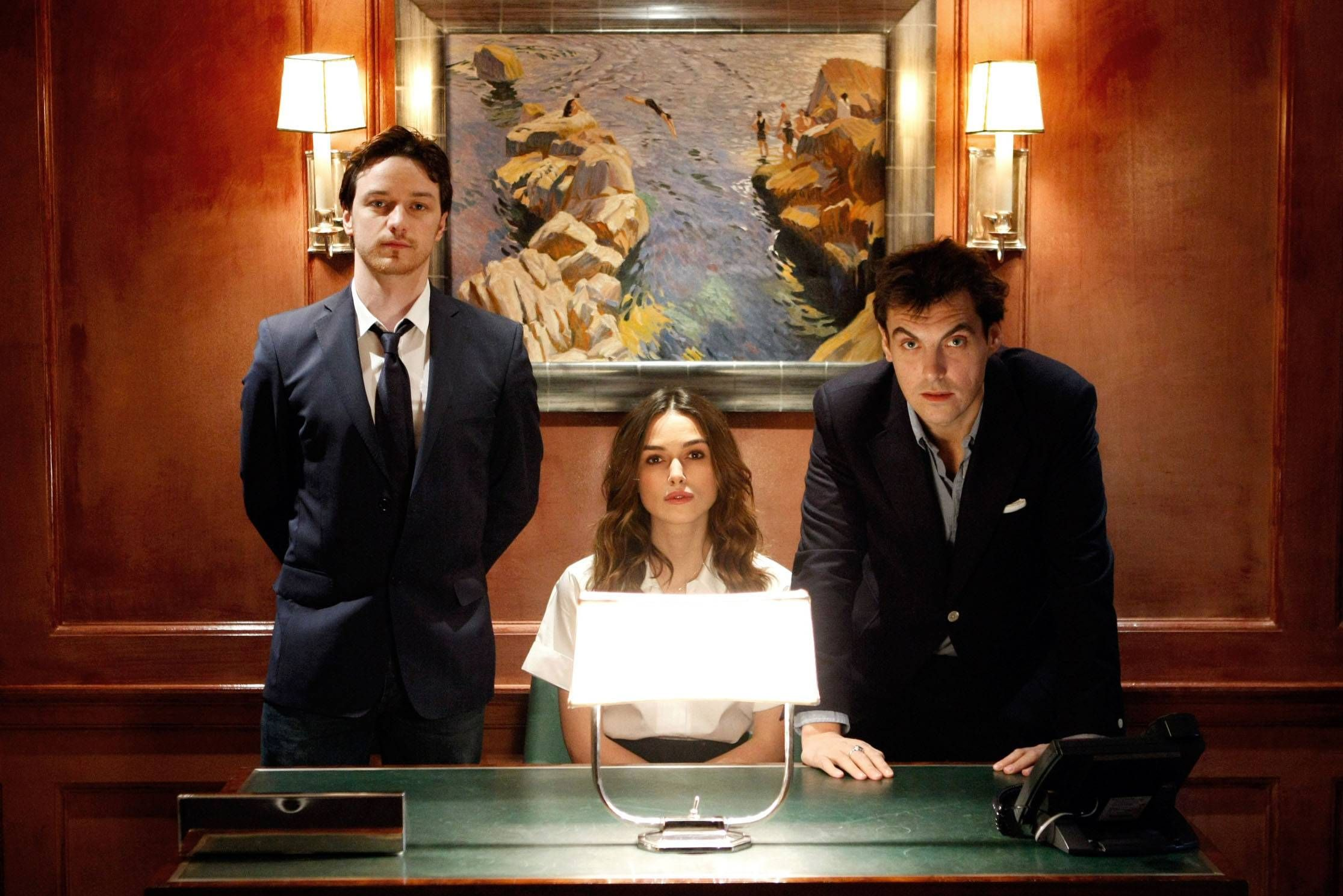 Keira Knightley with Joe Wright and James McAvoy