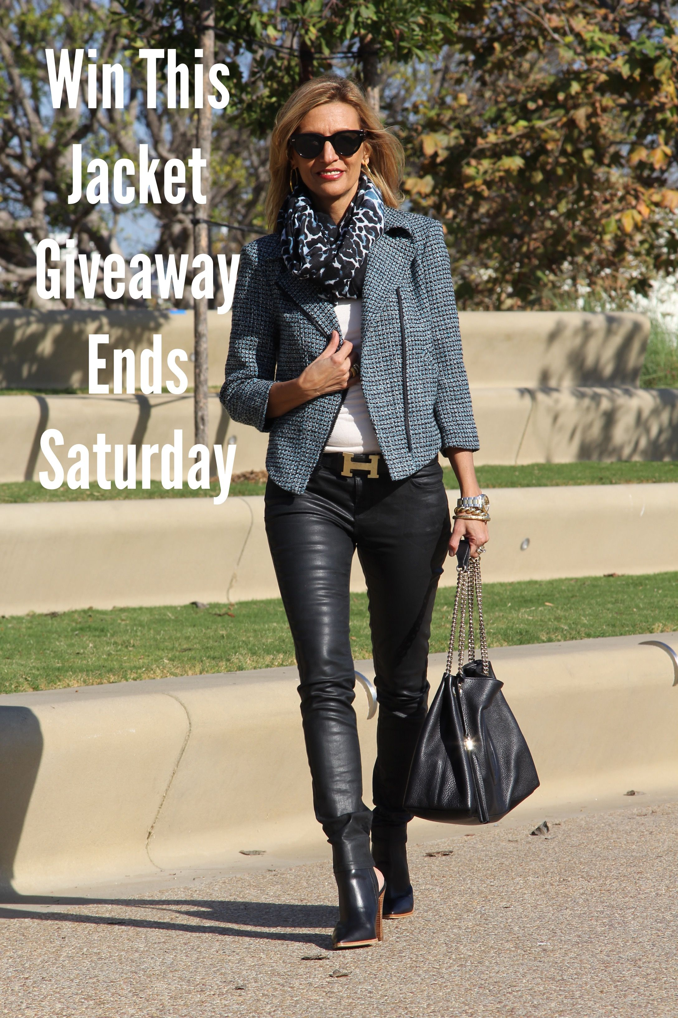 Don't forget to enter our Giveaway on our Monterey boucle jacket which ends this Saturday 1/31/2015 you can enter here http://www.jacketsociety.com/win-a-jacket-society-womens-boucle-moto-jacket/