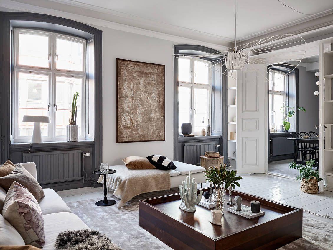 Classic Scandivanian Apartment en 18  Déco maison, Salon maison