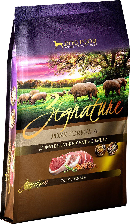 The zignature pork limited ingredient formula grainfree