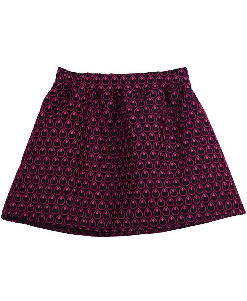 Red Elastic Waist Heart Polka Dot Skirt US$27.90
