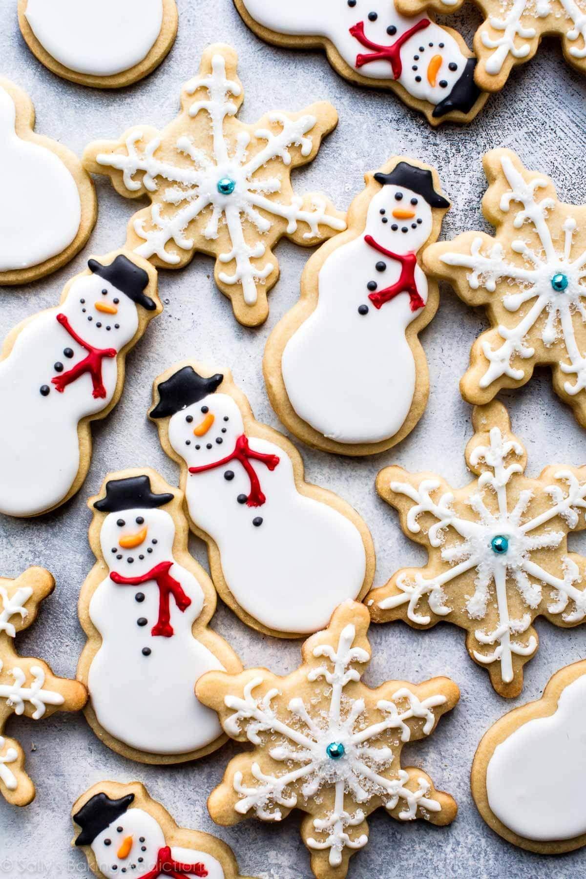 Snowman Sugar Cookies Christmas sugar cookies, Sugar